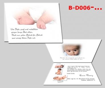 A6 Karten bedruckt mit Fotos Einladung Danksagung Schulanfang Kommunion Geburt | eBay